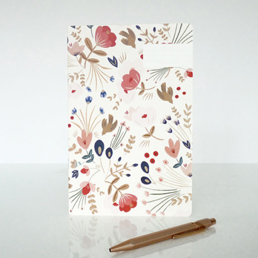 Carnet season paper fleuri
