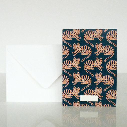 carte de tigre mignon seasonpaper