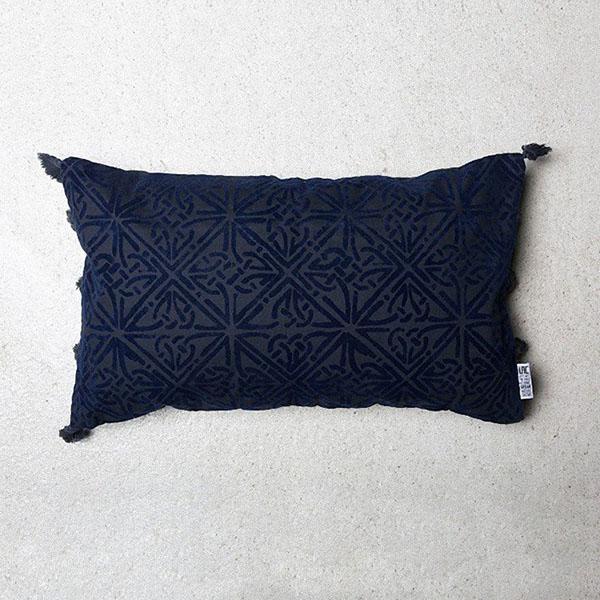 coussin bleu marine rectangulaire 30*50
