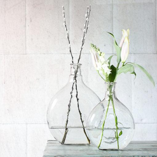 vases en verre nkuku pour compositions florales