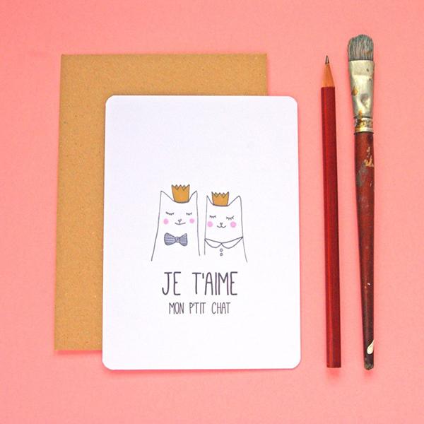 carte postale petit chat pas cher