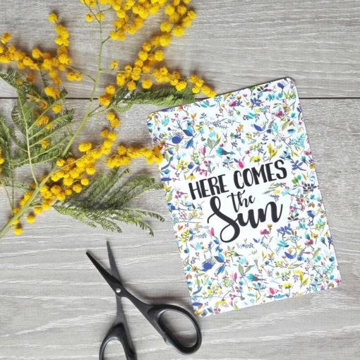 carte postale fleurie et enfantine