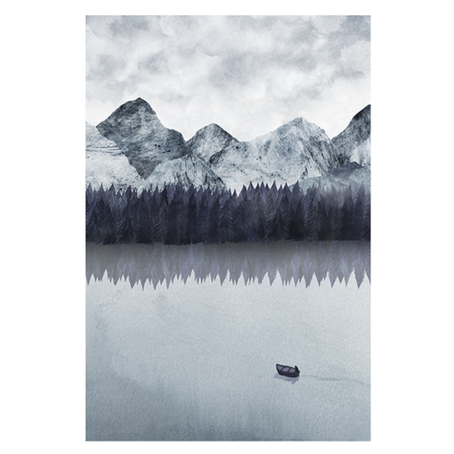 poster d'un paysage de montagne
