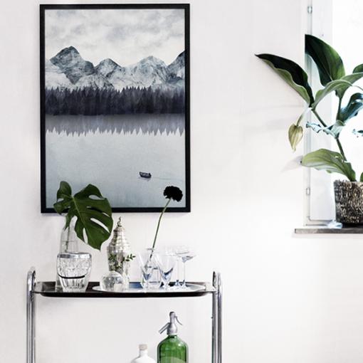 Poster paysage de montagne suedois