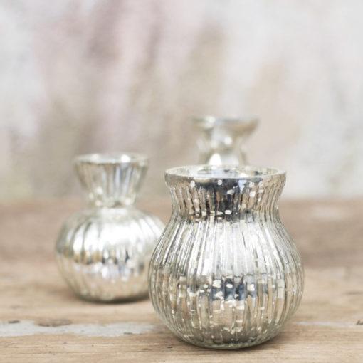 petits vases argentés