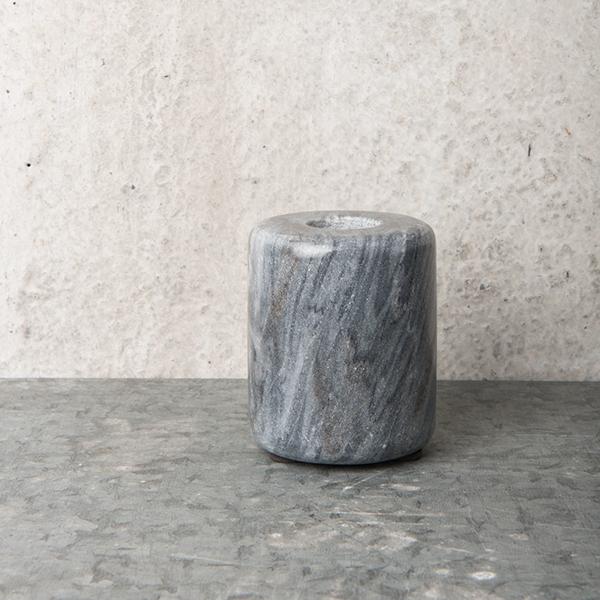 bougeoir en marbre gris