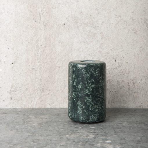 bougeoir en marbre vert