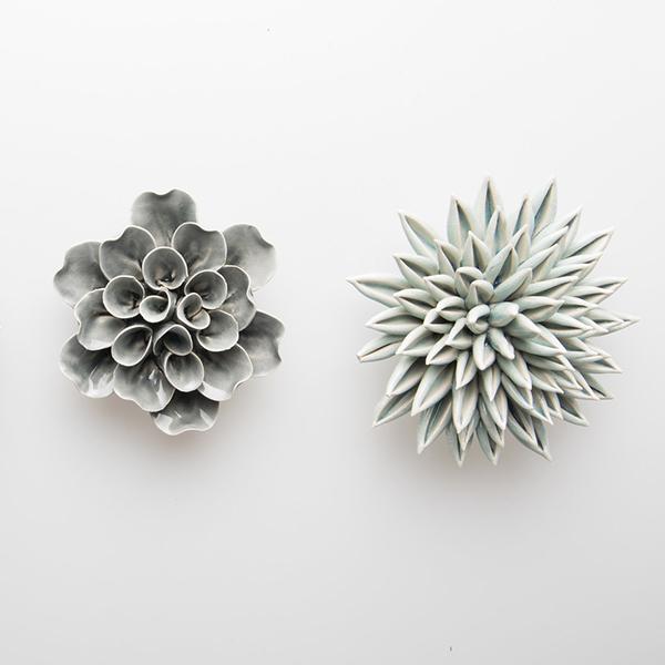 reproduction de plantes vertes en céramiques