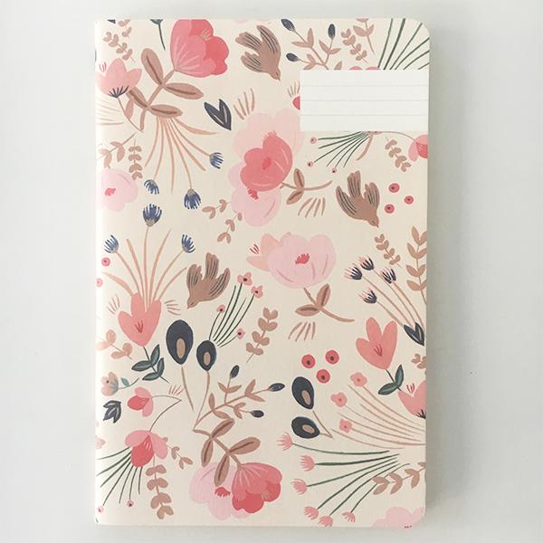 Carnet flower aux couleurs et motifs poétiques made in France