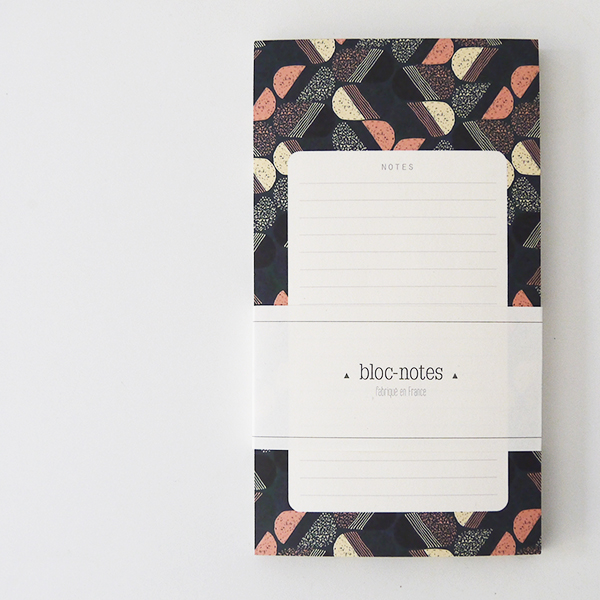 bloc note aux motifs wax made in france