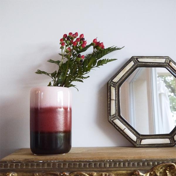 vase composé de 3 couleurs de la marque broste copenhagen