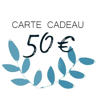 carte cadeau de 50 €