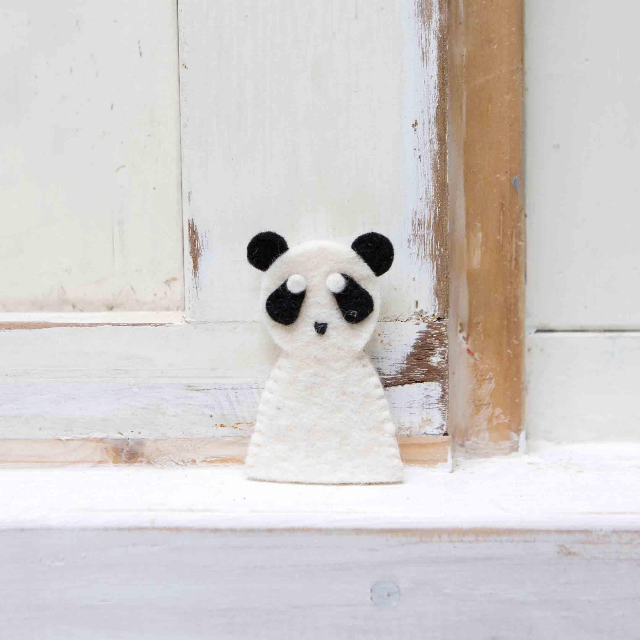 petit panda en feutrine