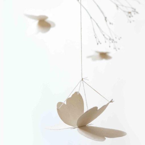 mobile papillons en papier