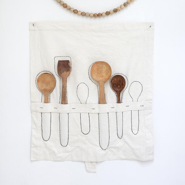 service de cuillère en bois