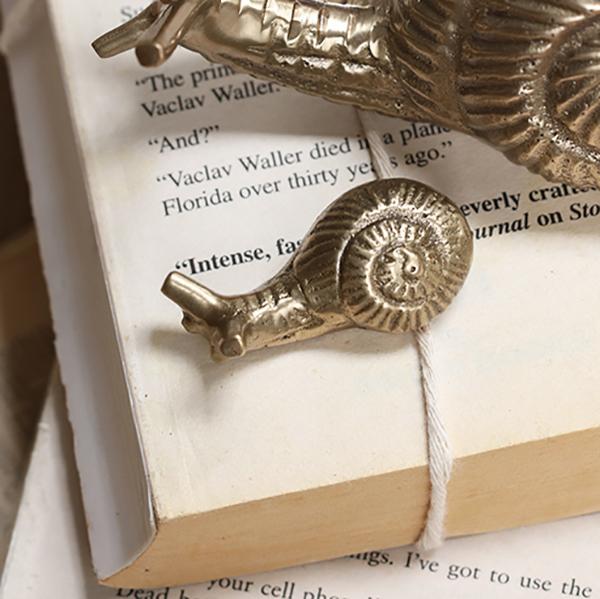 presse-papier escargot en laiton