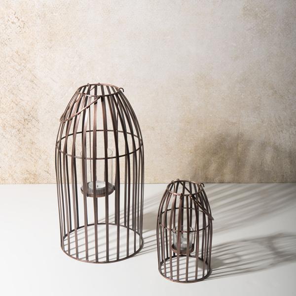 duo de lanternes hurricane copper