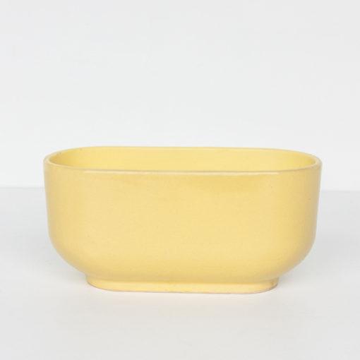 pot jaune raffia