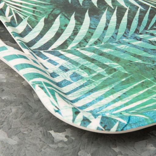 plateau en bambou à motif palmier
