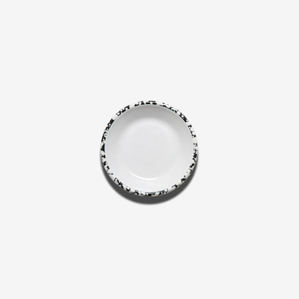 coupelle en émail mouchetée noir et blanc bornn