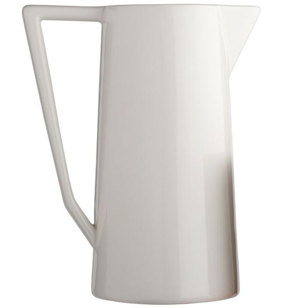 carafe moderne blanche en céramique zangra