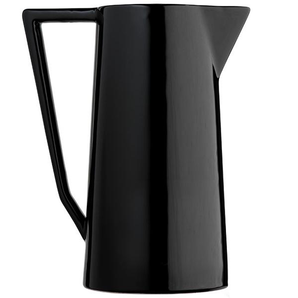 carafe moderne noire en céramique zangra