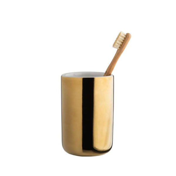décoration pour salle de bain,verre à dent doré